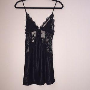 Victoria's Secret Beautiful black lace chemise